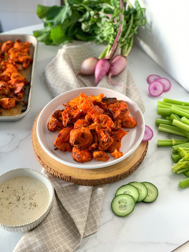 Vegan Spicy Buffalo Cauliflower Bites